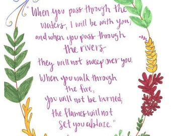 Isaiah 43:2 When You Pass Through The Waters