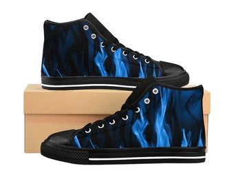 841b1281eaf3b Space Odyssey High Top Shoes WomenS HighTop Sneakers Galaxy   Etsy