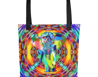 Elephant Psychedelic Tote Bag Indian Tote Bag Elephant Tote Hippie Tote  Bohemian Custom Tote Bag 1cba400c474f7