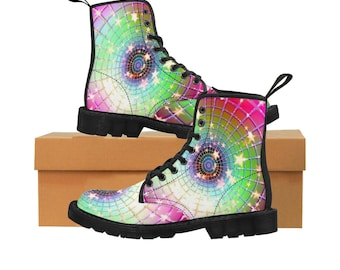 StarS WomenS Martin Boots Rainbow StarS High Top Boots Festival Boots  OuterSpace Boots Hiking Boots Ankle Boots Custom Made Martin Boots f51ebe9d7e71