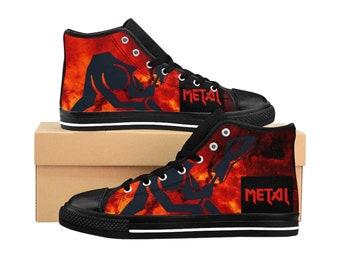 e2374b465f5b8 Heavy metal sneakers | Etsy