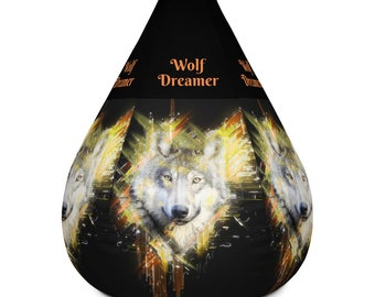 Magnificent Beanbag Wolf Etsy Squirreltailoven Fun Painted Chair Ideas Images Squirreltailovenorg