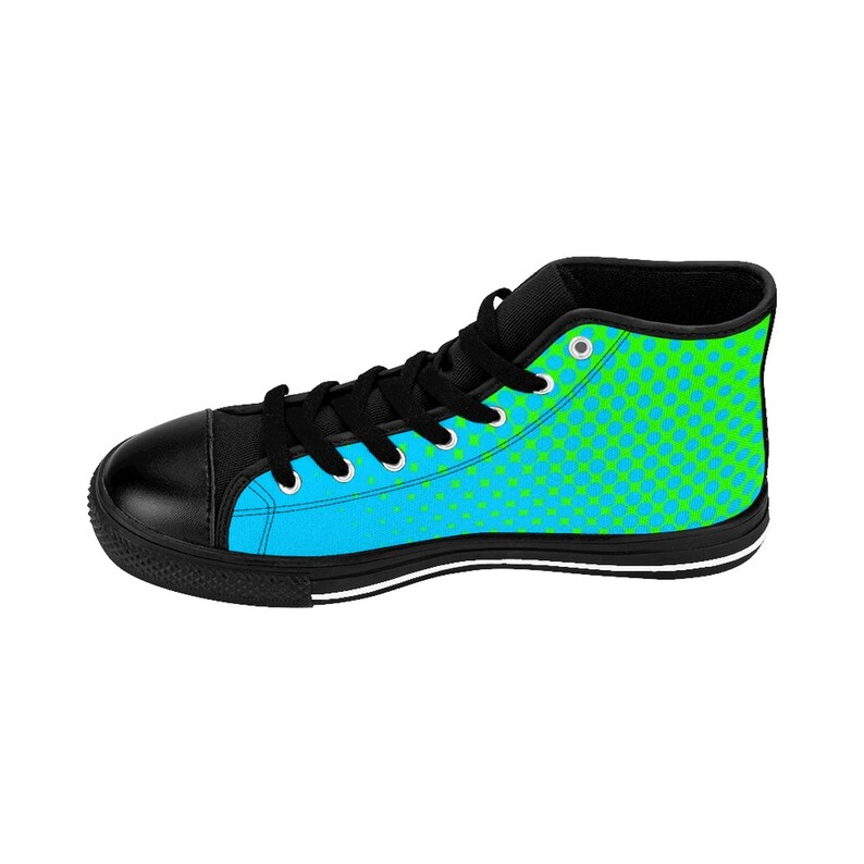 WomenS Modern HighTop Sneakers Turquoise  Lime Sneakers Running Shoes Basketball Sneakers Custom Made