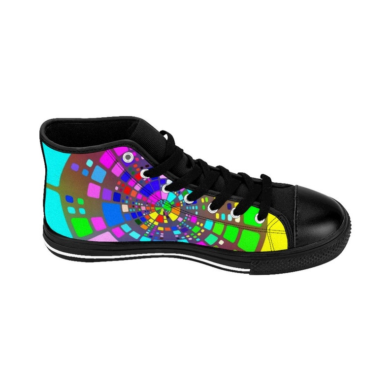 1fdbb2361ae37 Space Odyssey High Top Shoes WomenS HighTop Sneakers Galaxy Sneaker  Psychedelic Sneakers Custom Made