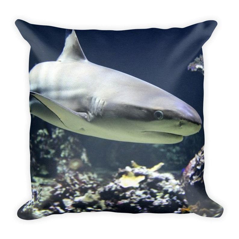 b1a540a76994 Shark Pillow Home Decor Pillow Throw Pillow Pillow Square