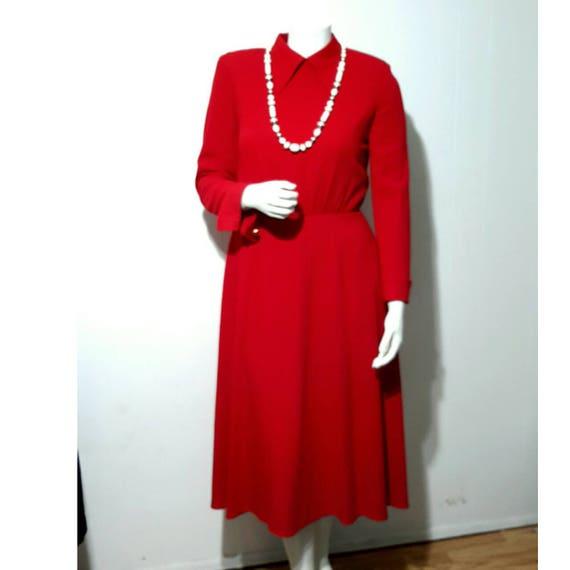 Vintage Red Dress Mod Spiegel Workshop Vogue Saturday Dress Etsy