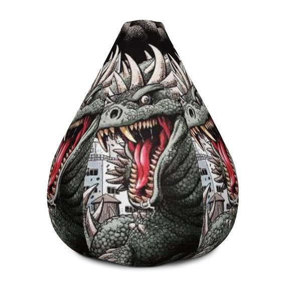 Peachy Bean Bag Chair W Filling Godzilla Friend Monster Lizard Boys Decor Geek Decor Kids Decor Godzilla Monster Decor Custom Made Andrewgaddart Wooden Chair Designs For Living Room Andrewgaddartcom
