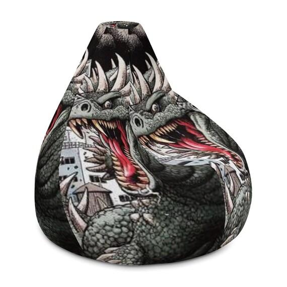Excellent Bean Bag Chair W Filling Godzilla Friend Monster Lizard Boys Decor Geek Decor Kids Decor Godzilla Monster Decor Custom Made Andrewgaddart Wooden Chair Designs For Living Room Andrewgaddartcom