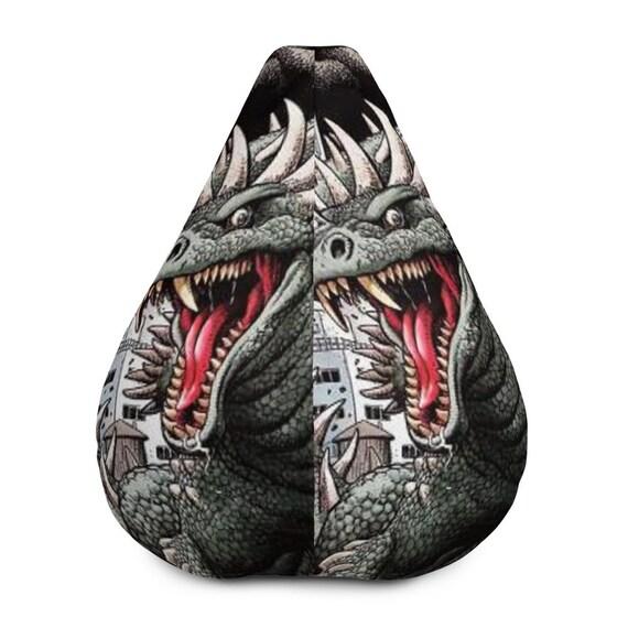 Tremendous Bean Bag Chair W Filling Godzilla Friend Monster Lizard Boys Decor Geek Decor Kids Decor Godzilla Monster Decor Custom Made Andrewgaddart Wooden Chair Designs For Living Room Andrewgaddartcom