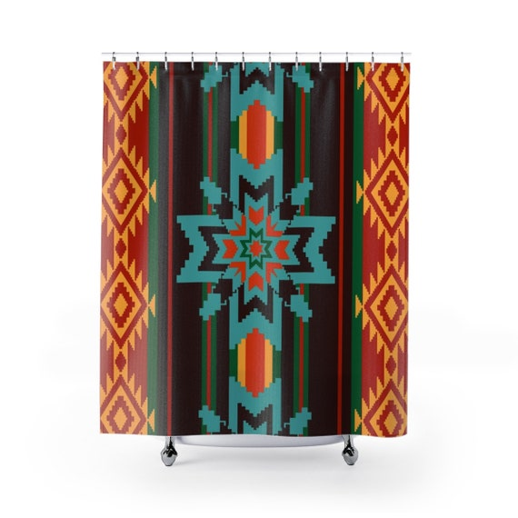 Brilliant Southwest Decor Native American Bathroom Decor Shower Curtains Tribal Custom Made Shower Curtain Download Free Architecture Designs Remcamadebymaigaardcom