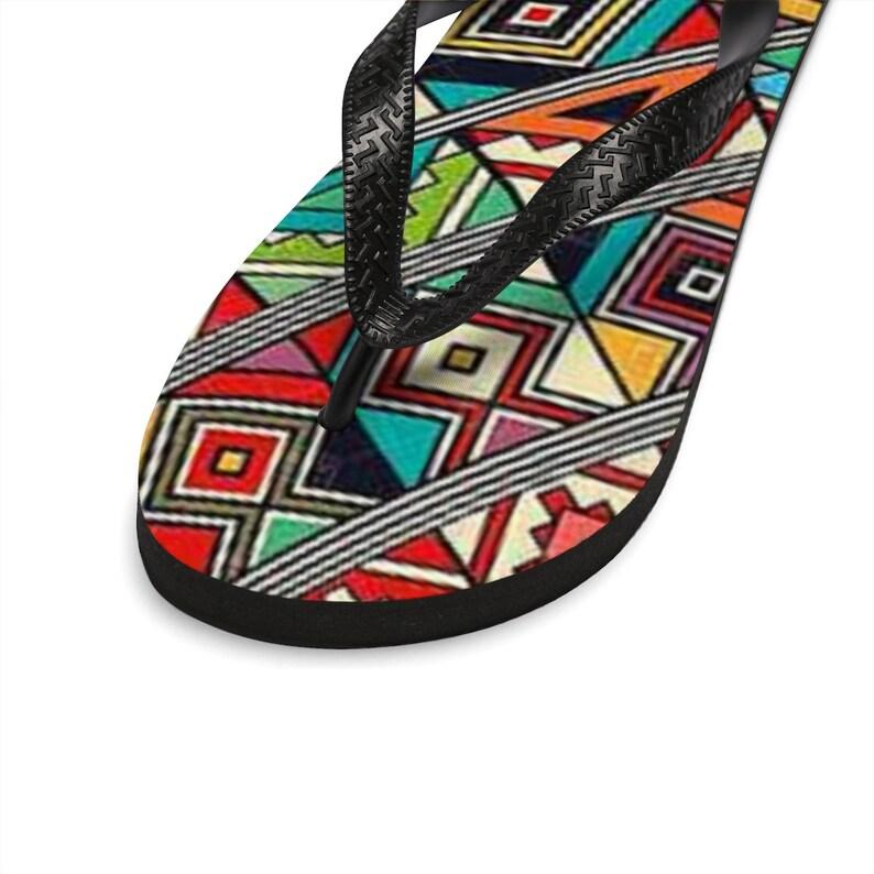 Tribal Flip Flops Abstract Unisex Flip-Flops