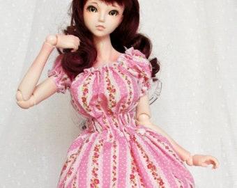 shirring One piece Shirred dresses for BJD SD, SD13, DD, Obitu50