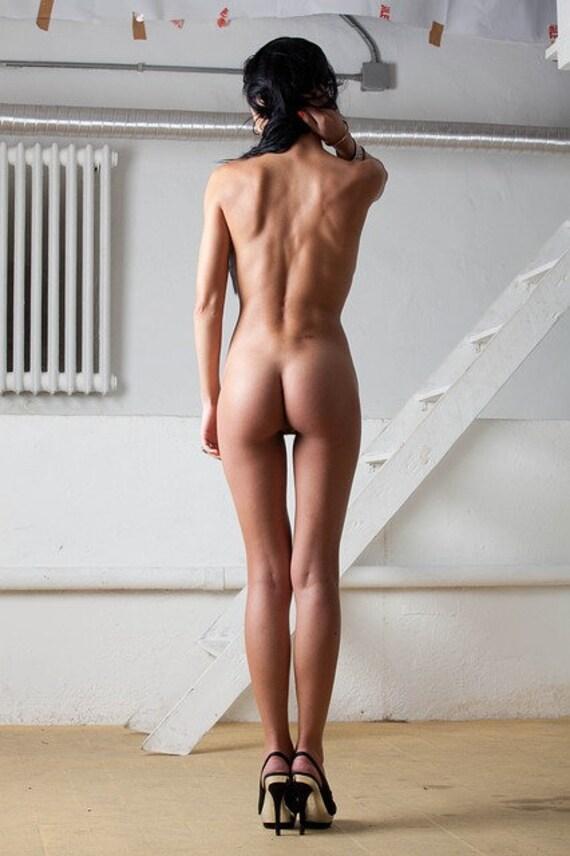 Sexy Hot Brunette Female Boxer Perfect Stock Photo