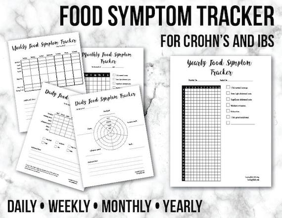 food symptom tracker bullet journal pages crohn u0026 39 s ibs