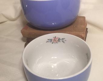 Hall/'s Superior Quality Kitchenware Cadet Blue Royal Rose Handled Salt and Pepper Set