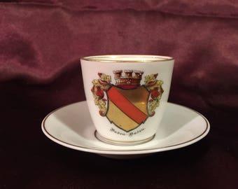 Baensch Lettin mocha cup and saucer set