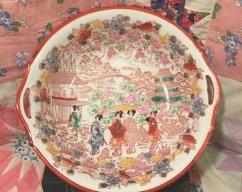 "Vintage Geisha ""made in Japan"" serving bowl"