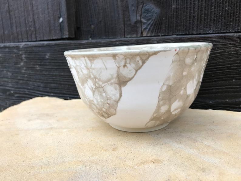 Bubble Glazed Bowl Olive