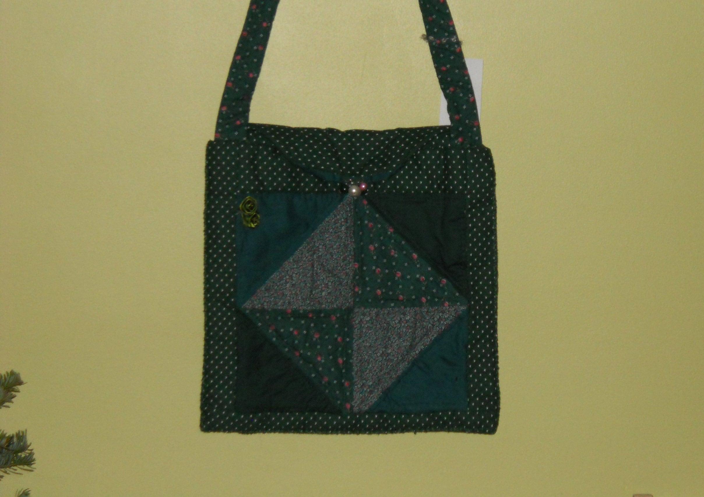 df7121817e Green quilted bag purse  handwork bag