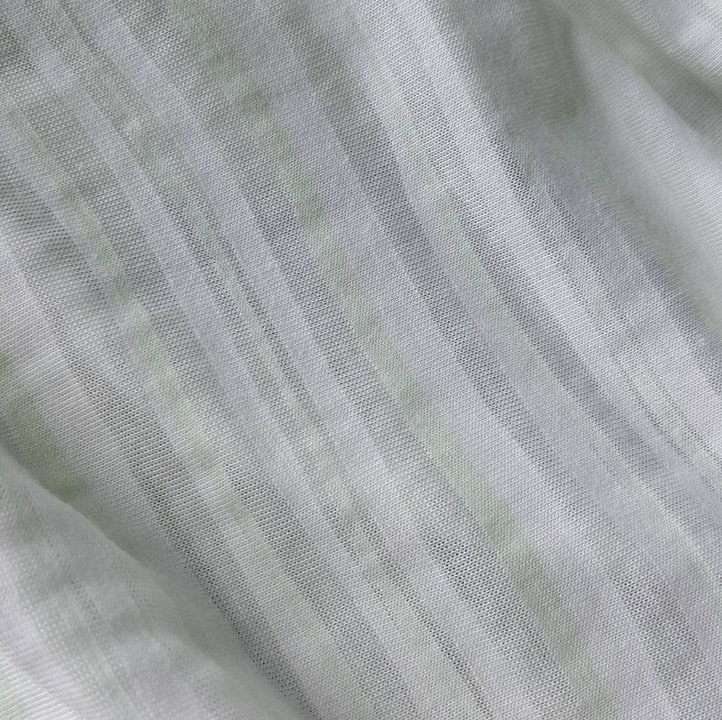 1855c1adf08 Rayon lycra blend fabric mint/white/sheer striped one yard | Etsy