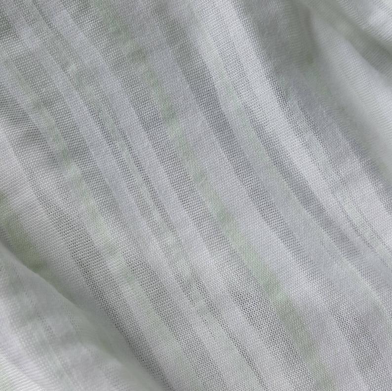 b680d71287a Rayon lycra blend fabric mint/white/sheer striped one yard | Etsy