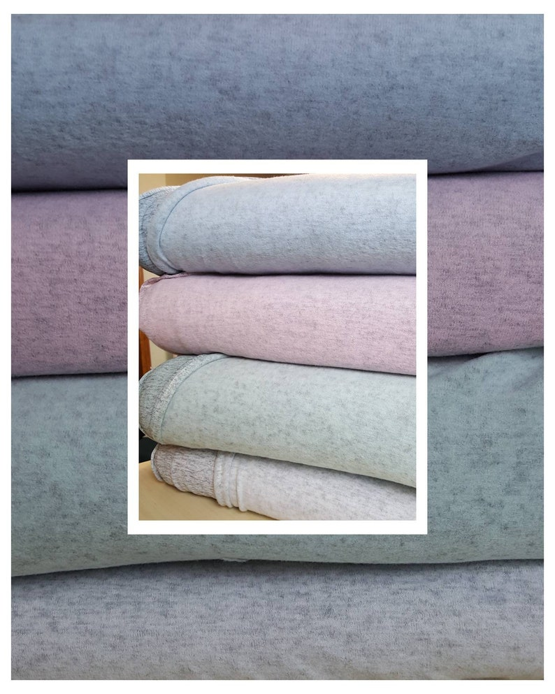 10dbe1893f5 Brushed jersey knit fabric . Blue pink mint gray . Stretch | Etsy