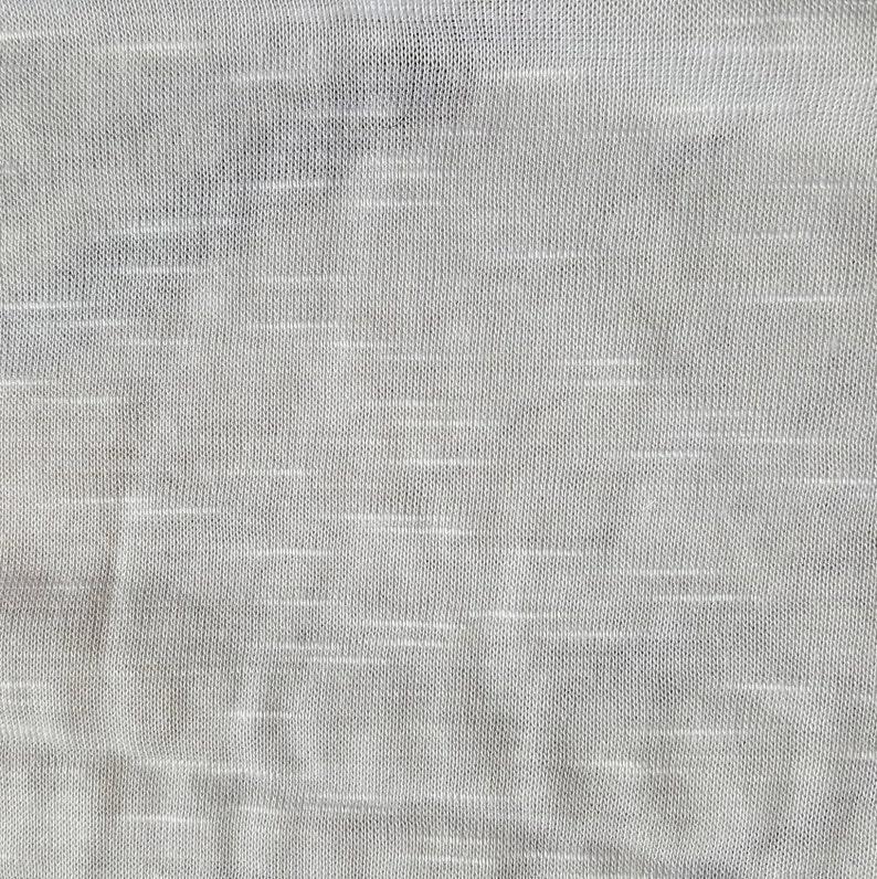 72b853b144e Slub knit rayon lycra blend fabric, white, one yard -solid knit fabric  -rayon blend fabric - polyester fabric - lightweight fabric - spandex