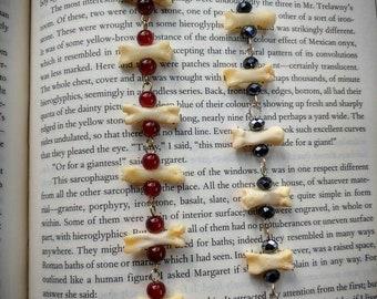 Real bone bead bracelet