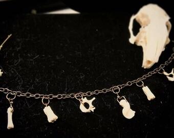 Tiny bone charm bracelet