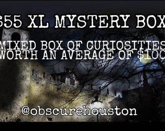 Oddities, skulls, and crystal mystery box