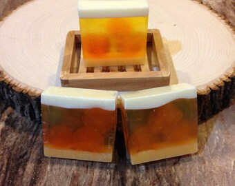 Orange essential oil soap, glycerin soap, handmade vegan soap, homemade natural soap, soap bar, soap gift, handcrafted soap, soap sale