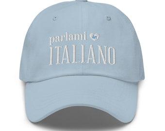Talk to Me in Italian Hat, Italian Student Teacher Gift, Italian Language Lover Hat, Learn Italian Study Gift, Italy Travel Gift for Men/Her