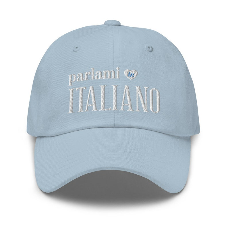 Talk to Me in Italian Hat Italian Student Teacher Gift image 0