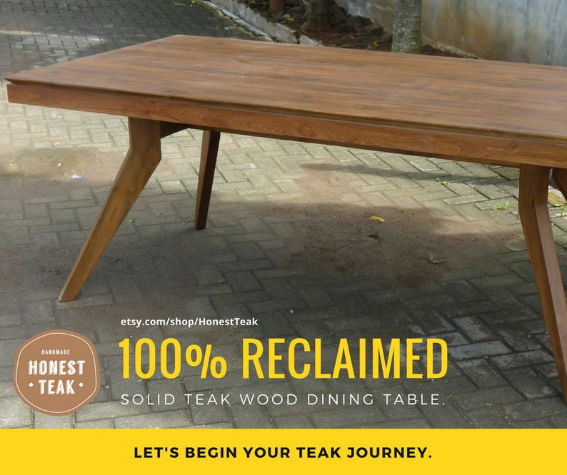 Honest Vintage Indian Teak Plank Dining Table The Latest Fashion Antique Furniture Other Antique Furniture