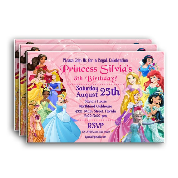 Disney Princess InvitationDisney BirthdayDisney