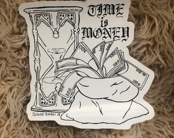 Time Is Money Sticker