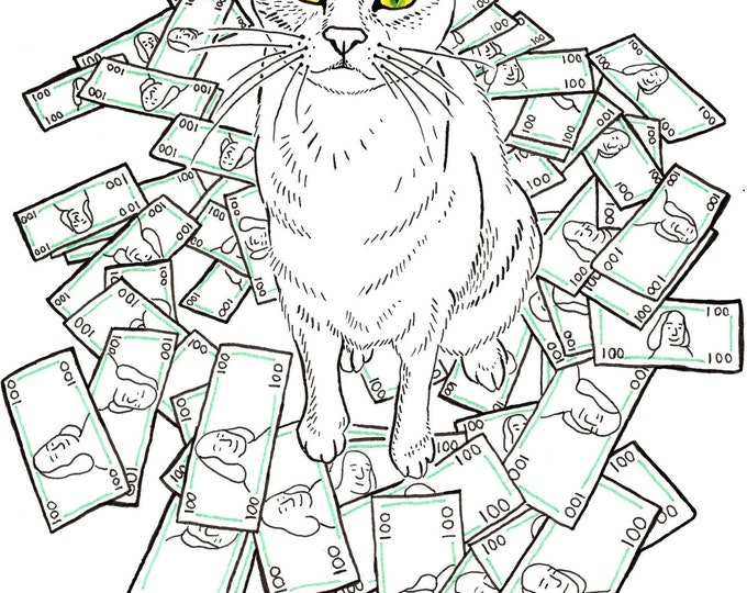 Money Cat Print