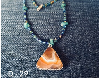 Beaded Necklaces with various shaped and colored Lake Superior Agates