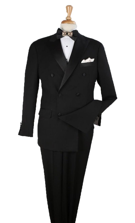 1920s Men's Evening Wear History: Tuxedos to Tailcoats Mens 2pc 100% Wool Tuxedo - Satin Peak Lapel By Alberto Nardoni Brand Designer $129.00 AT vintagedancer.com