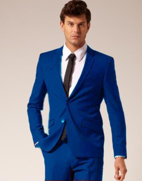 Mens Formal 2 Button Plain Suit