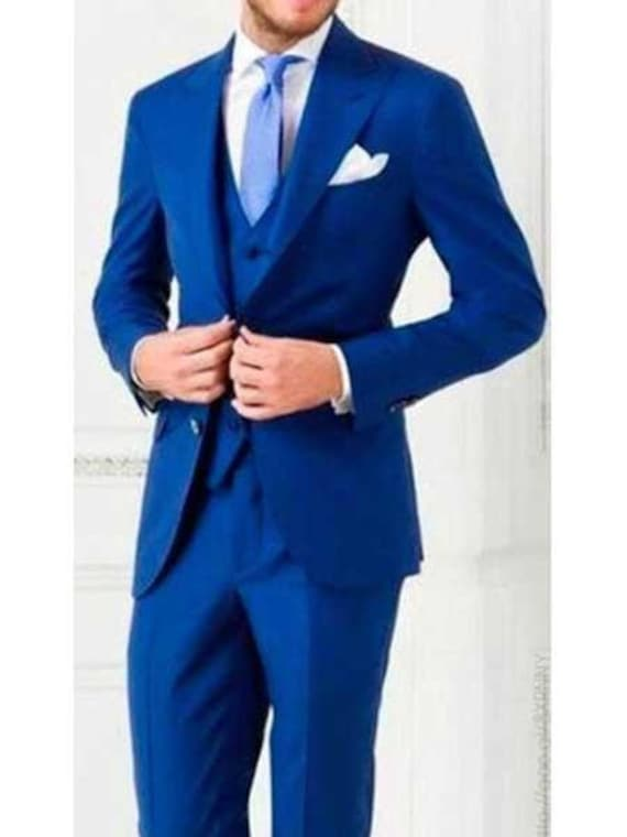 Wool Feel With Peak Lapel Pure White Wide Leg Pleated Pants Vested Mens 3 Piece Vested Fashion Three Piece Suit