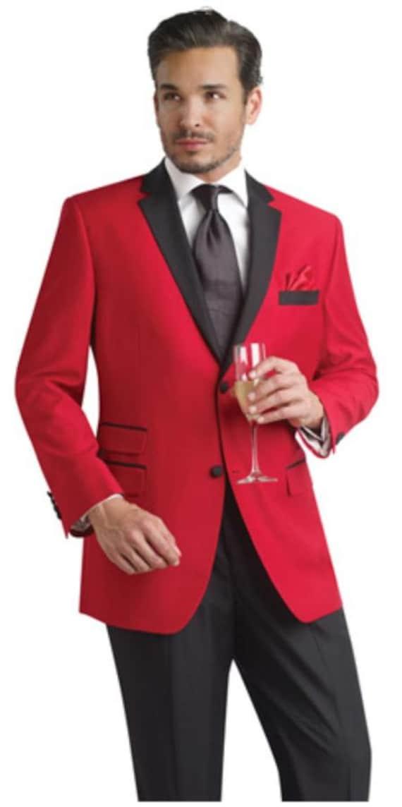 WINTAGE Mens Velvet Two Buttoned Notch Lapel Party Coat Blazer-4 Colors