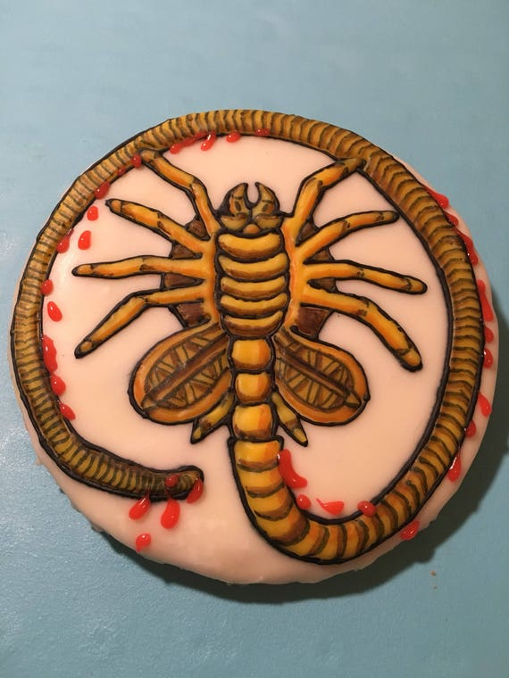 Alien Facehugger 5 1 2 Hand Decorated Sugar Cookie