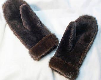 Real Fur Mittens, Mink Mittens