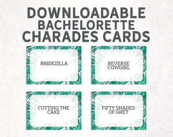 photograph about Printable Charades Cards named Printable charades Etsy