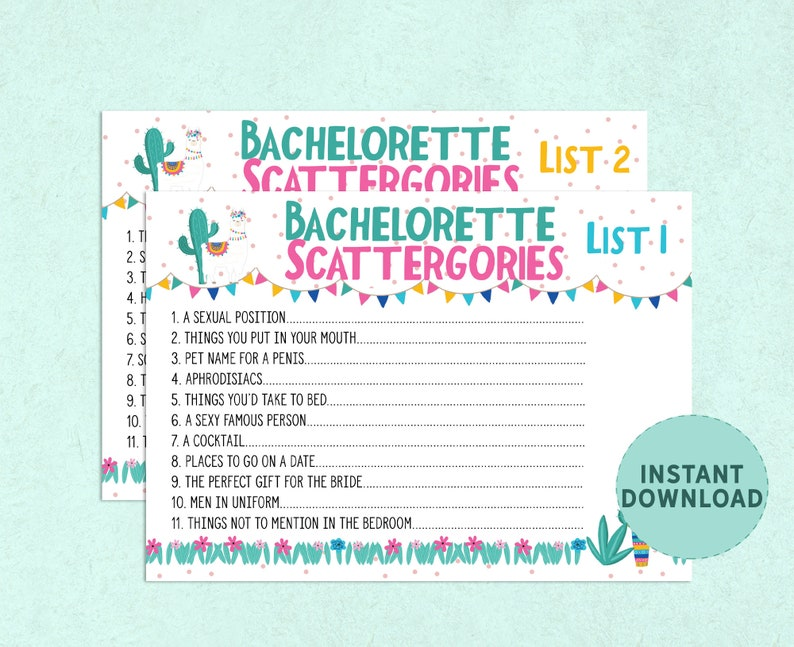 photo relating to Printable Scattergories Lists named SCATTERGORIES for Bachelorette, printable bachelorette celebration video game, xrated bird get together scattergories, naughty fiesta bachelorette recreation, FIESTA