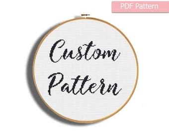 Custom cross stitch pattern, Custom pattern pdf, Pattern from photo, Pattern from Image, Modern cross stitch, Custom embroidery pattern