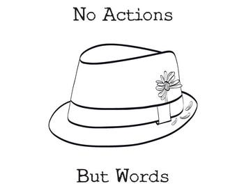 No Actions, But Words - Poetry Book
