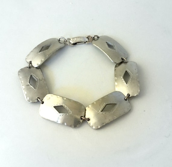 Charm signed bracelet in Pewter from North of Swed