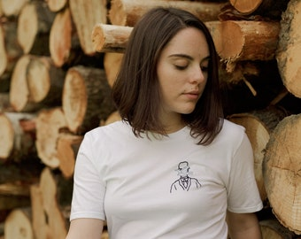 Magritte embroidery t-shirt